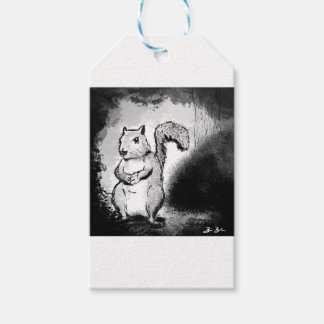 Inky Squirrel Gift Tags
