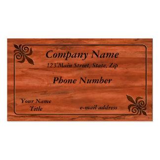 Inlaid Fleur de lis Business Cards