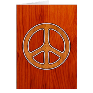 Inlaid Peace Card
