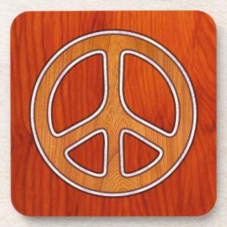 Inlaid Peace Coaster