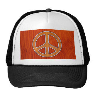 Inlaid Peace Mesh Hats