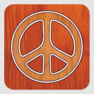 Inlaid Peace Square Stickers