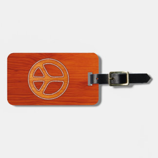 Inlaid Peace Travel Bag Tags