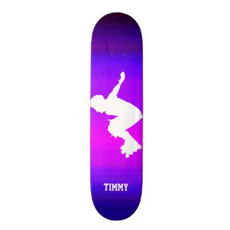 Inline Skater; Vibrant Violet Blue and Magenta Skate Board Deck