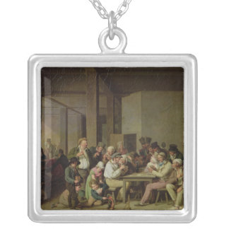 Inn Scene Silver Plated Necklace