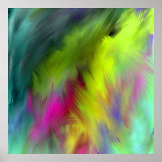 inner Ab44 vivid abstract art Poster