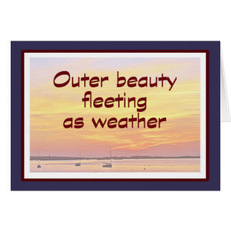 Inner beauty. card