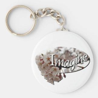 Inner Child Crochet cherry blossom logo Key Ring