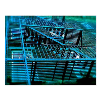 Inner City Blues and Fire Escapes Postcard