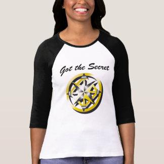 Inner Compass Black and White baseball shirt