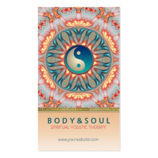 Inner Fire Energy Yin Yang Holistic Business Card