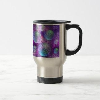 Inner Flow II - Abstract Indigo & Lavender Galaxy Travel Mug