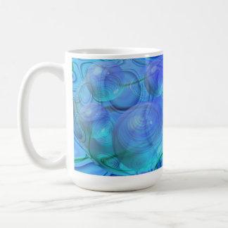 Inner Flow VI – Aqua & Azure Galaxy Coffee Mug