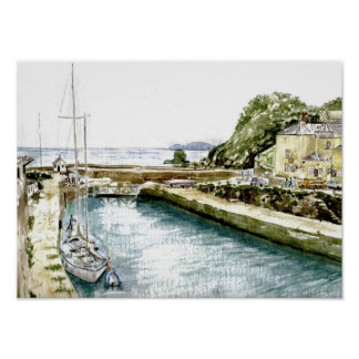 'Inner Harbour and Pier House' Poster