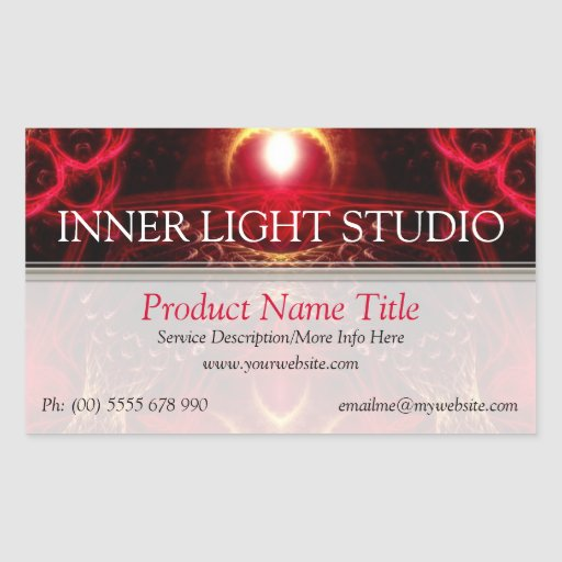 Inner Light Fractal Arts Product Label Sticker