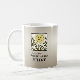 Inner Light Shine, 12 Step Recovery Anniversary Coffee Mug