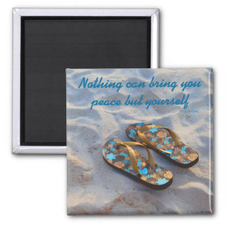 Inner Peace Inspiration motto Ralph Waldo Emerson Magnet