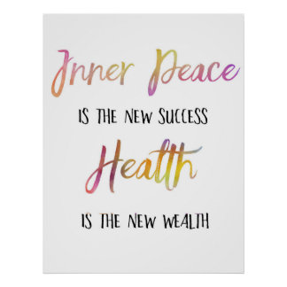 """""""Inner Peace is the new success"""" poster"""