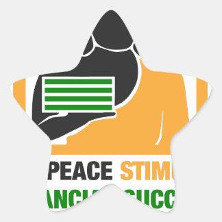 Inner Peace Stimulates Financial Success Star Sticker
