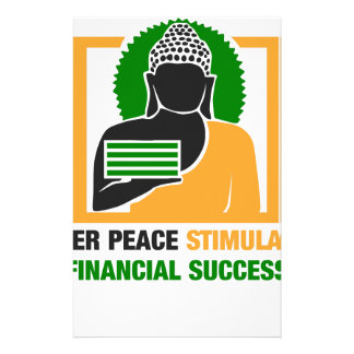 Inner Peace Stimulates Financial Success Stationery