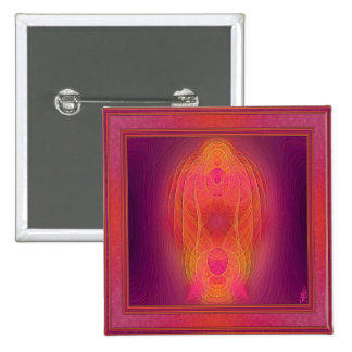 Inner Sanctum Abstract Art 15 Cm Square Badge