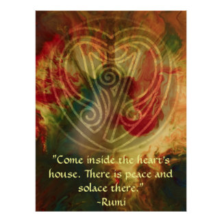 Inner Song-Rumi and Poetic Art Poster