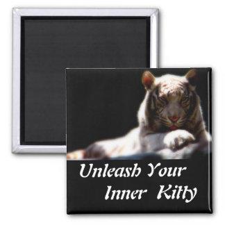 Inner Tiger Kitty Magnet