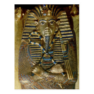 Innermost coffin of Tutankhamun Postcard