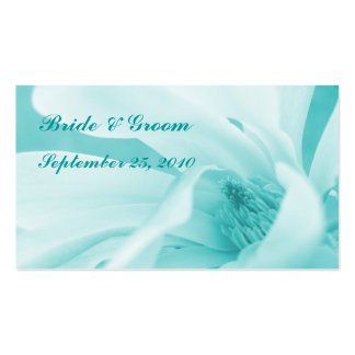 Innocence 3 Aqua wedding or party favour card Business Cards