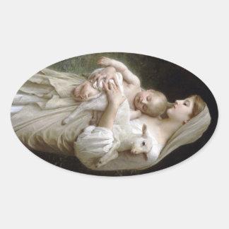 Innocence (L'Innocence) Oval Sticker