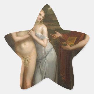 Innocence Preferring Love to Wealth by Pierre-Paul Star Sticker