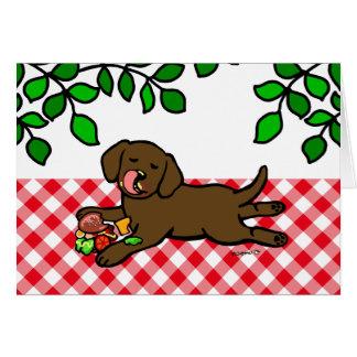 Innocent Chocolate Labrador Puppy Card
