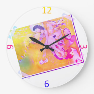 Innocent Days Large Clock