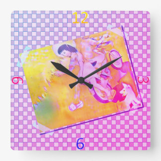 Innocent Days Square Wall Clock