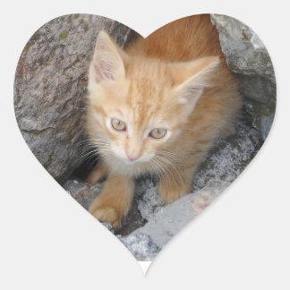Innocent Kitten Heart Sticker