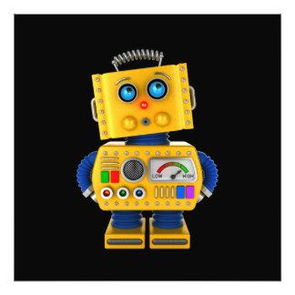 Innocent looking toy robot art photo