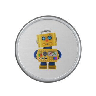 Innocent looking toy robot bluetooth speaker