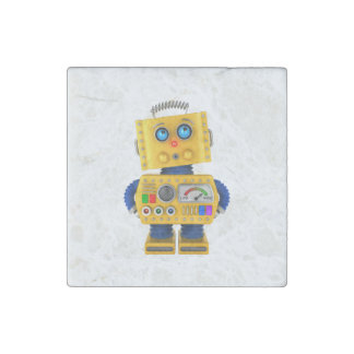 Innocent looking toy robot stone magnet