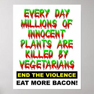 Innocent Plants Funny Poster