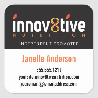 Innov8tive Nutrition Square Sticker