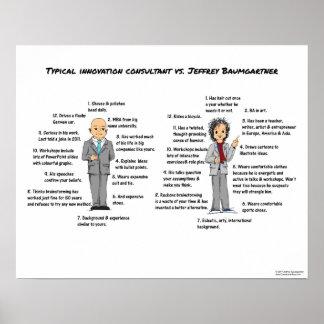 Innovation Consultant Comparison Poster