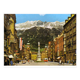 Innsbruck, Maria Theresa Strasse, 1950 Postcard