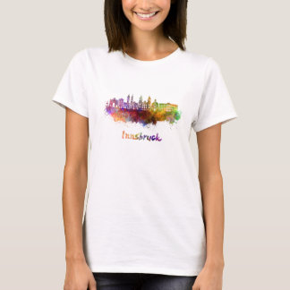 Innsbruck skyline in watercolor T-Shirt