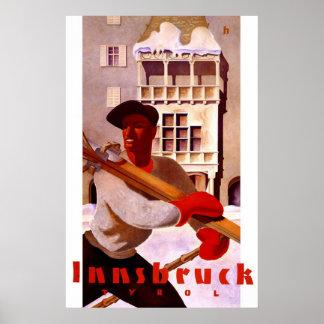 """""""Innsbruck"""" Vintage Travel Poster"""