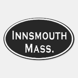 Innsmouth Mass. Oval Sticker