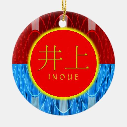 Inoue Monogram Fire & Ice Christmas Tree Ornament