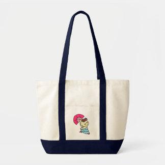 inparusutotoabani child pink tote bag