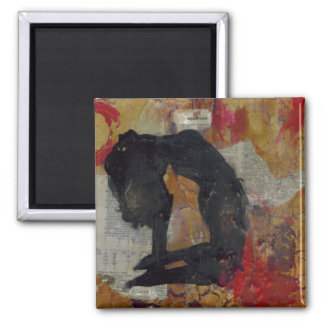 Inquisitional Yoga Girl - Square Magnet