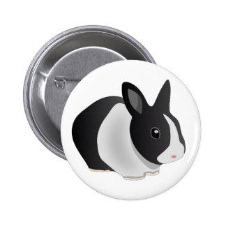 Inquisitive Bunny button