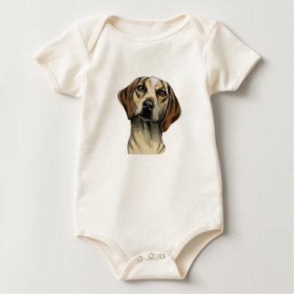 Inquisitive Hound Rendering Baby Bodysuit